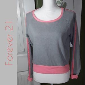 Forever 21 Long Sleeve Crop Top Shirt EUC